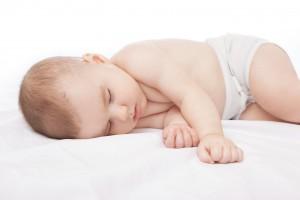 Sleeping infant boy