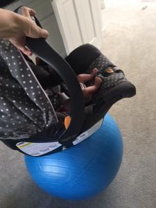 car seat yoga ball