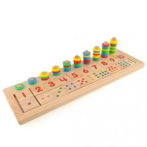 Montessori number teaching board