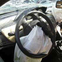 car internal drive crashed airbag exploded and destroyed body